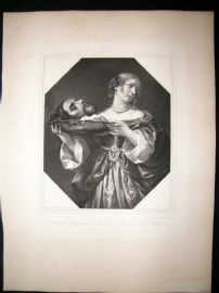 After Carlo Dolci C1840 LG Folio. Salome with the head of St. John the Baptist